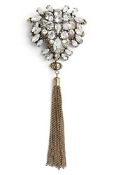 Berry Women's Tassel Crystal Brooch