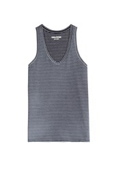 Zadig And Voltaire Cotton Hilda Raye Tank Top Blue