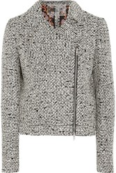 Giambattista Valli Sequined Boucle Tweed Jacket Black Gray