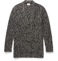 Solid Homme Boucle Knit Cardigan Black