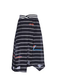 Preen Greta Stripe Print High Waisted Skirt