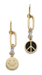 Marc By Marc Jacobs Peace Statement Earrings Black