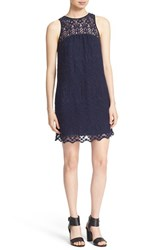 Joie Women's 'Fahfia' Lace Shift Dress Dark Navy Caviar