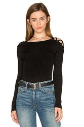 1.State Criss Cross Shoulder Sweater Black