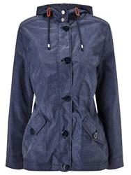 Dash Chambray Blue Showerproof Coat