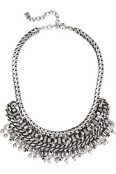 Dannijo Zahara Oxidized Silver Plated Necklace
