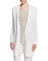 Vince Marled Knit Long Cardigan Size Xx Small Optc Wht
