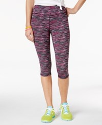Material Girl Space Dyed Cropped Active Leggings Only At Macy's Multi Space Dye