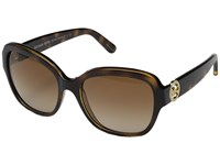 Michael Kors Tabitha Iii Dark Tortoise Brown Gradient Fashion Sunglasses