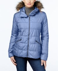 Columbia Sparks Lake Faux Fur Trim Thermal Coil Puffer Jacket Bluebell