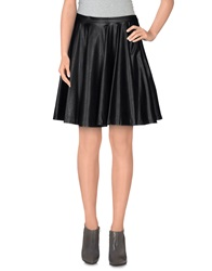 G.Sel Knee Length Skirts Black
