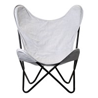 Bloomingville Butterfly Chair Grey
