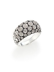 John Hardy Dot Diamond And Sterling Silver Dome Ring