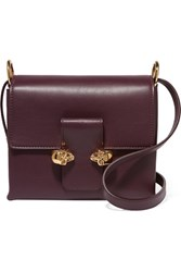 Alexander Mcqueen Twin Skull Leather Shoulder Bag Grape