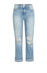 Current Elliott High Waisted Cropped Jeans