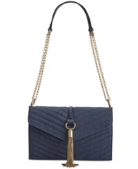 Inc International Concepts Yvvon Small Shoulder Bag Only At Macy's Denim Blue