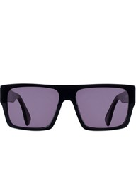 Sunday Somewhere Matte Black Glossy Pera Sunglasses
