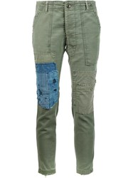 Greg Lauren 'Gl1 Slim Fit Army' Trousers Green