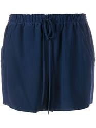 Chloe Drawstring Shorts Blue