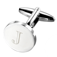 John Lewis Round Initial Cufflinks Single J