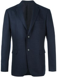 Z Zegna Two Button Blazer Blue