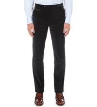 Corneliani Slim Fit Stretch Corduroy Trousers Navy