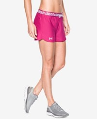 Under Armour Play Up Shorts Tropic Pink White