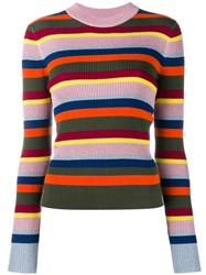 House Of Holland Striped Knit Jumper Multicolour