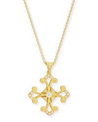 Aegean Diamond Cross Pendant Necklace Eli Jewels
