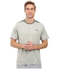 The North Face Reactor Short Sleeve Crew Wrought Iron Heather Men's Clothing White