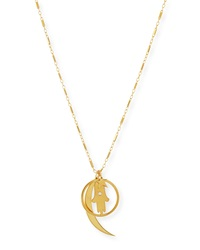 Jennifer Zeuner Jewelry Jennifer Zeuner Cherie Gold Vermeil Long Charm Necklace