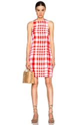 Stella Mccartney Benedicte Dress In Red Checkered And Plaid