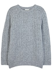 Solid Homme Grey Chunky Knit Wool Jumper
