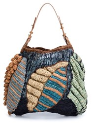 Jamin Puech 'Papaver Leaf' Woven Bag Multicolour