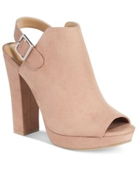 Report Libbie Slingback Booties Women's Shoes Taupe