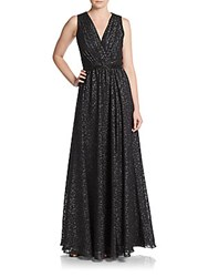 David Meister Embellished Fit And Flare Gown Black