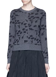 Marc Jacobs Animal Intarsia Cashmere Knit Sweater Grey