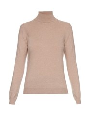 Bottega Veneta Roll Neck Cashmere Sweater Beige