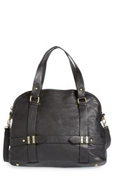 Sole Society 'Tristan' Faux Leather Bowler Bag Black