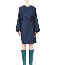 Lanvin Oversized Shift Dress Navy