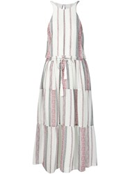 Derek Lam 10 Crosby Tasseled Peasant Dress White