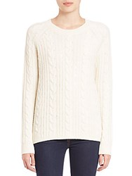 Vince Sequin Cable Knit Sweater Off White