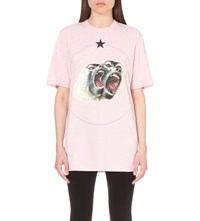 Givenchy Monkey Brothers Cotton Jersey T Shirt Pale Pink