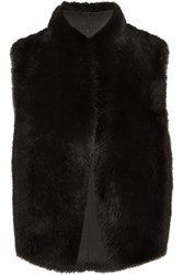 Iris And Ink Francesca Shearling Gilet Black