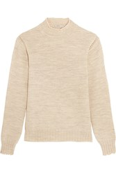 Ag Jeans Alexa Chung Scotland Wool Turtleneck Sweater Nude
