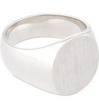 Tom Wood Oval Satin Silver Signet Ring