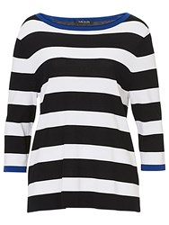 Betty Barclay Striped Top Black White