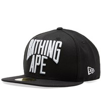 A Bathing Ape New Era Nyc Logo Cap Black