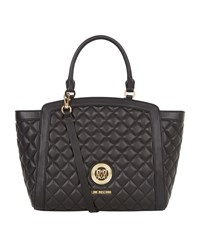 Love Moschino Trapeze Quilted Shopper Bag Female Black