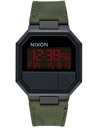 Nixon Re Run Leather With All Black Case
